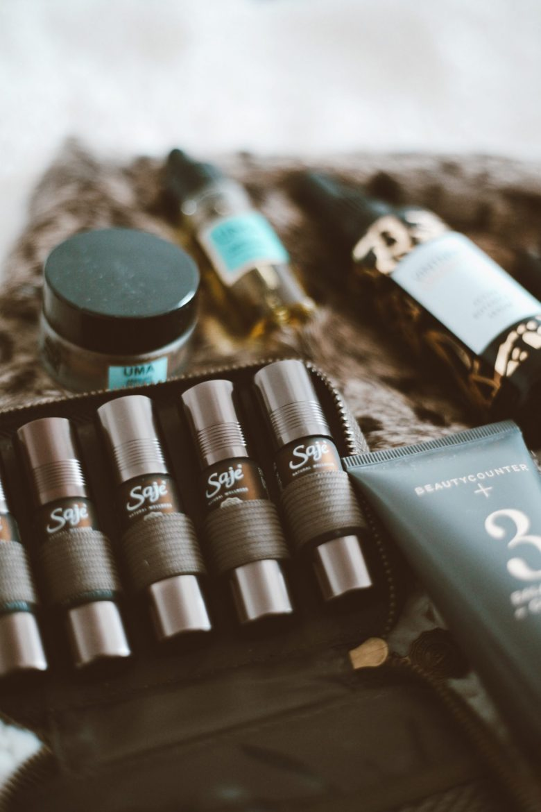 How to Sleep Better by popular San Francisco lifestyle blog, Sylvie in the Sky: image of Saje essential oils.