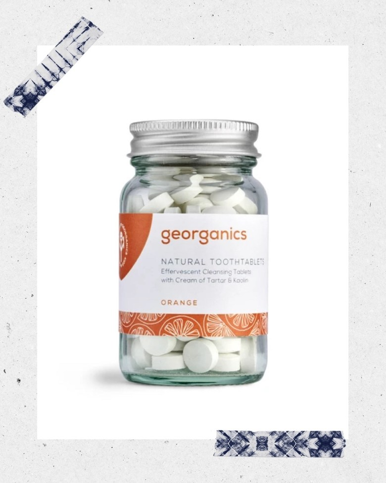 Top 10 Best Toothpaste Tablets featured by top San Diego healthy lifestyle blogger, Sylvie in the Sky: georganics orange