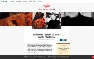 Conférence | concert Du plain-chant à l'Ars Nova...