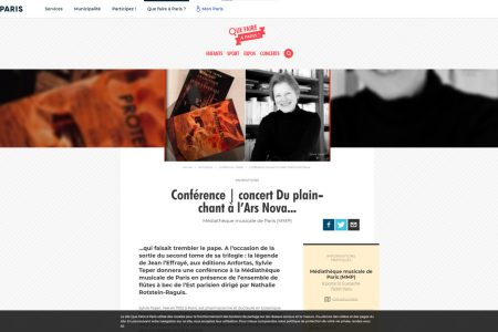 Conférence   concert Du plain-chant à l'Ars Nova...