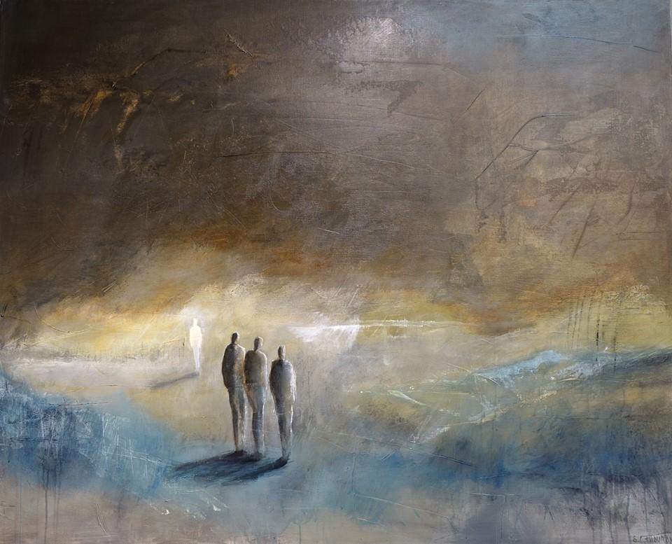 Peinture Thouron L'attente II