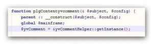 Bild - Screenshot yvcomment.php