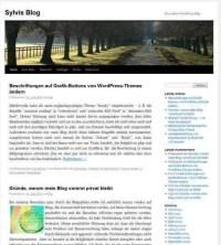 Blogseite nach Import im Standardtheme Twenty Ten