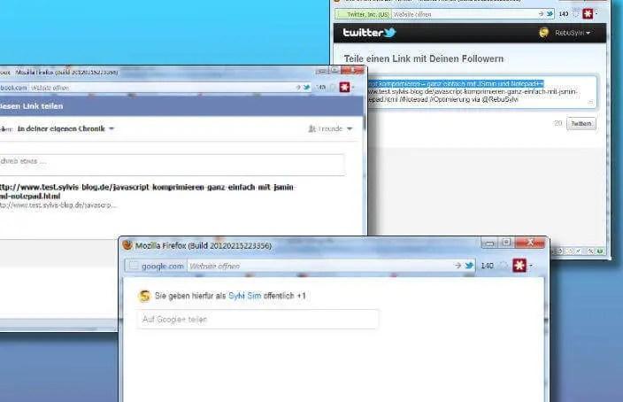 Social Media-Links per Popup-Fenster öffnen