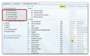 Playlisten im Windows Media Player