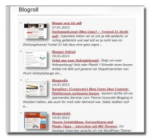 Blogrollanzeige Sylvis Blog