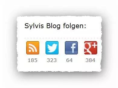 Zähler Social Media Buttons