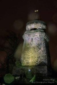 Bismarckturm im Regen
