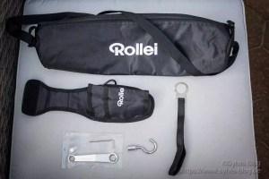 Inhalt des Paketes von Rollei