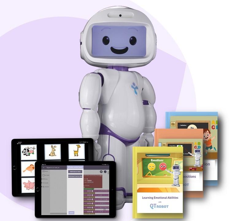 La solution QTrobot pour l'autisme comprend