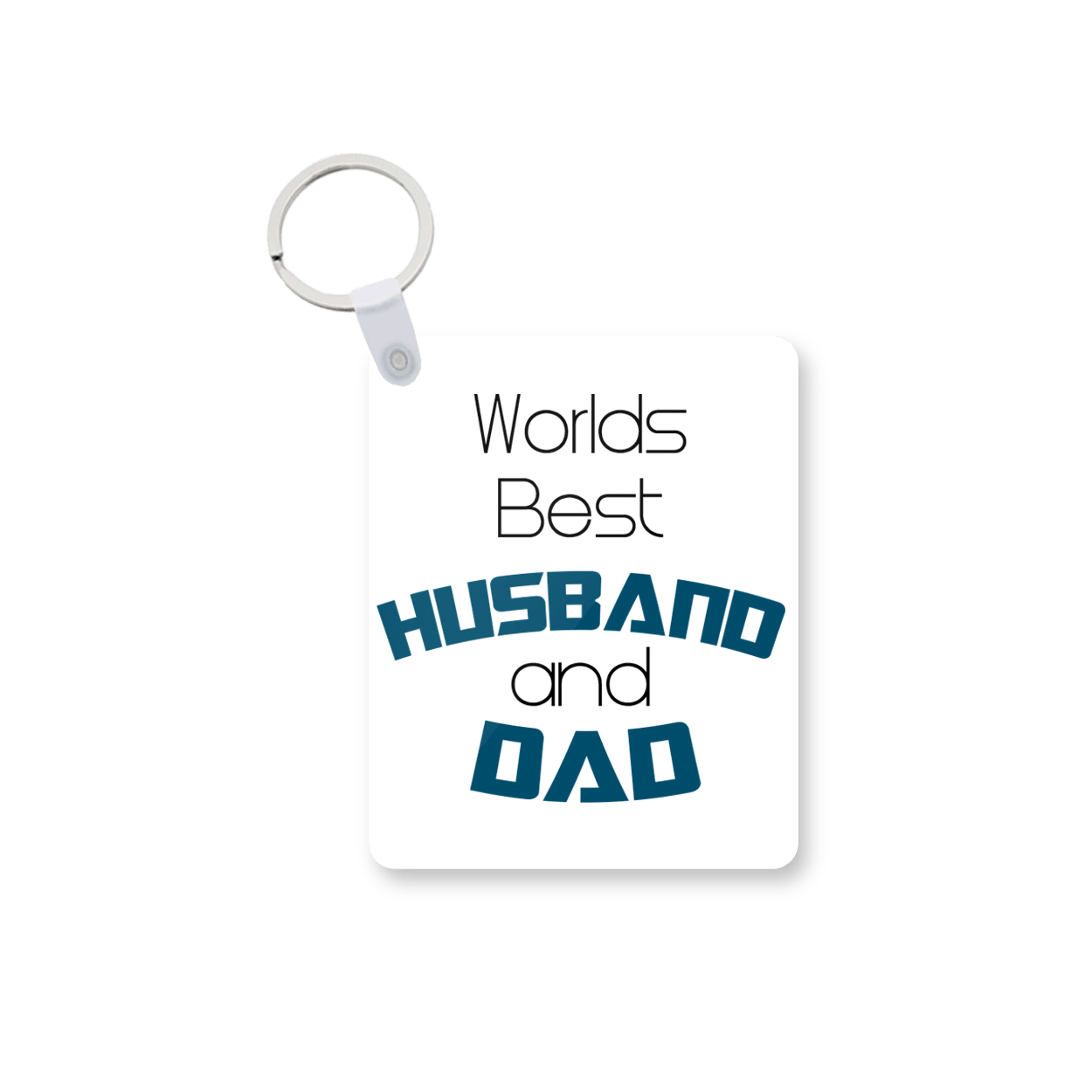 Husband And Dad Printed Keychain kc-554 price in Pakistan