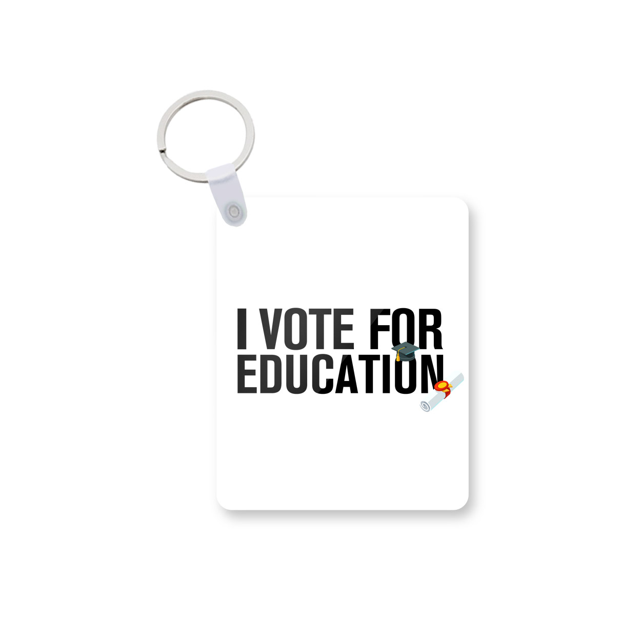 I Vote For Education Printed Keychain kc-666 price in