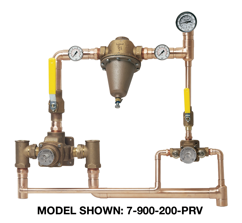 hight resolution of tempcontrol hi low thermostatic mixing valve and piping system 7 piping diagram for mixing valves