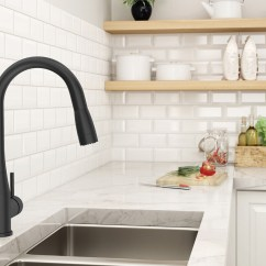 Kitchen Faucet Black Valances Curtains Matte Finish Symmons See The Sereno In