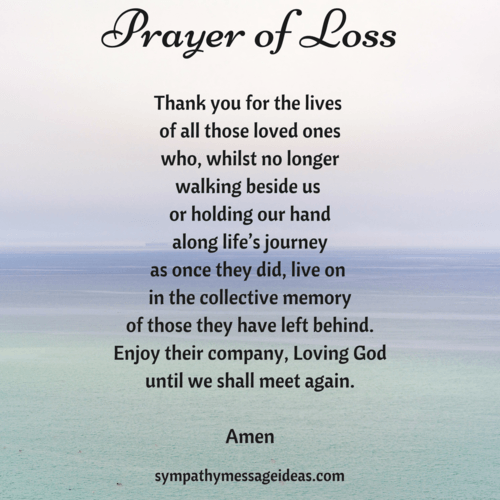Prayer Friend Who Lost Loved One