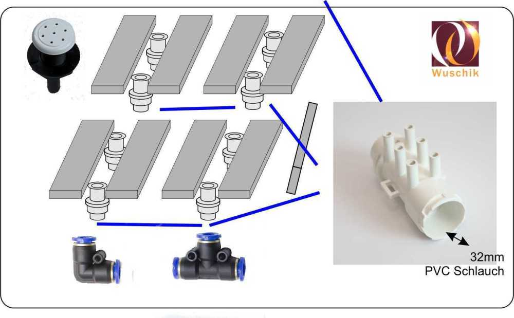 medium resolution of  customized hot tub kit concrete 24 air 24 water jets