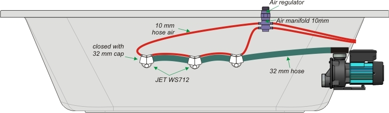 6 X Jacuzzi Hydrojet Waterjet Adjustable Chrome Low