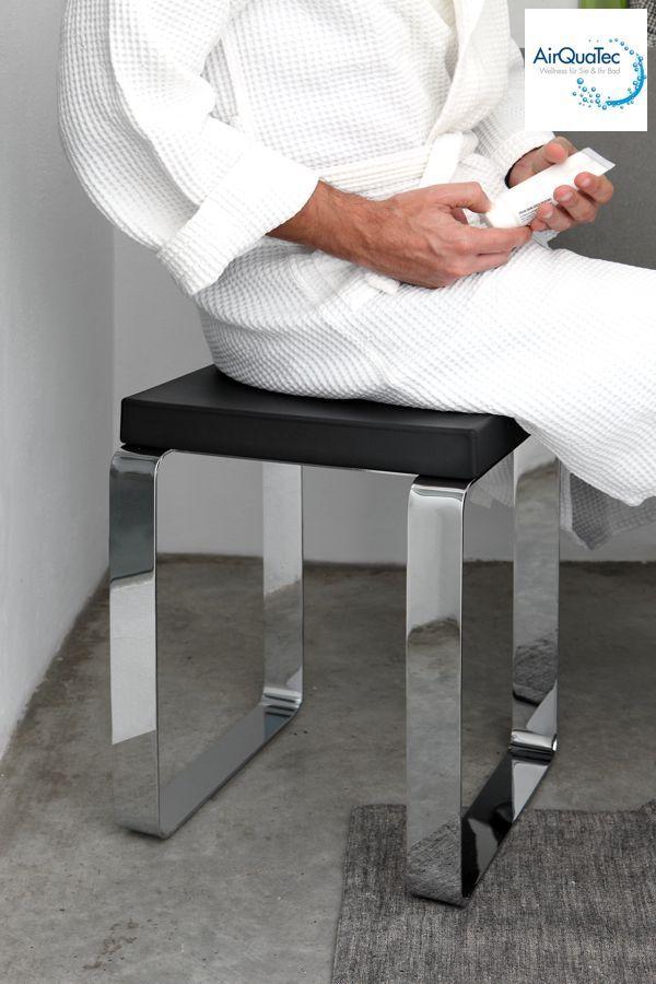 Badsitz Badhocker Duschsitz Duschhocker Metall Chrom