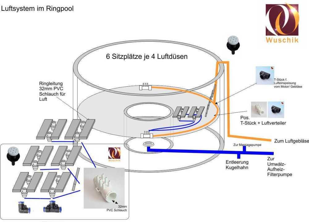 medium resolution of customized hot tub kit concrete 24 air 24 water jet pump hot tub jets diagram hot