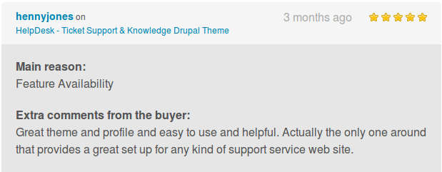 Helpdesk theme reviews