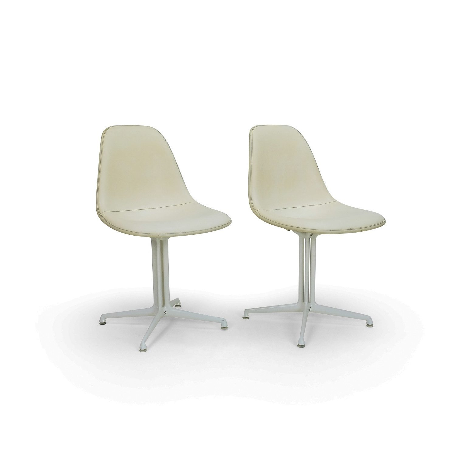 Vintage Herman Miller Side Chairs with la Fonda Base. Early 1960s