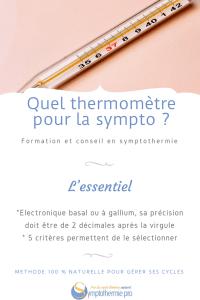 quel thermomètre choisir pour la symptothermie
