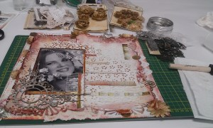 Photo added and starting 'on the page' embellishment.
