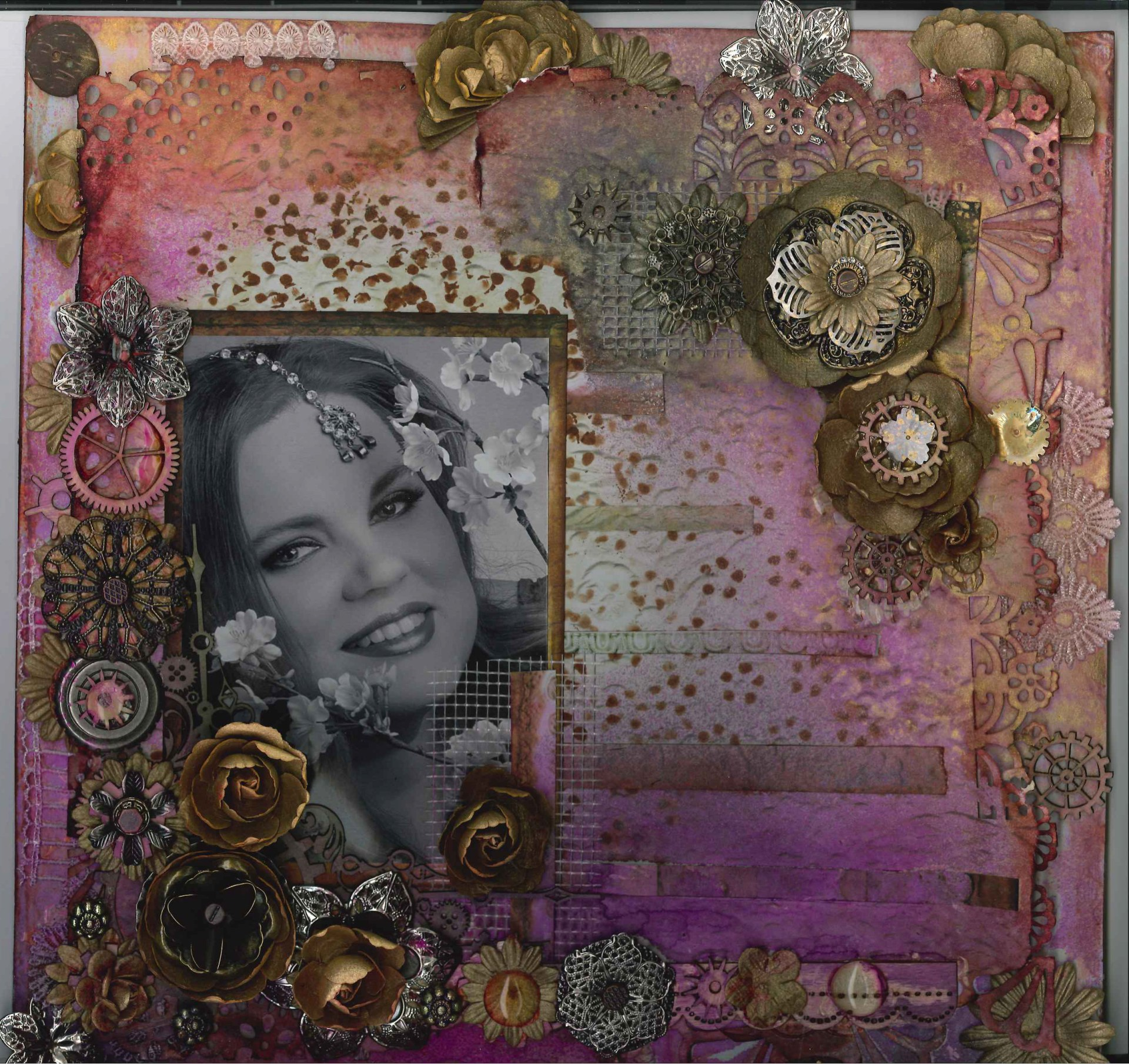 Floral Steampunk – mixed media class