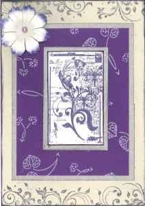 Purple baby shower card