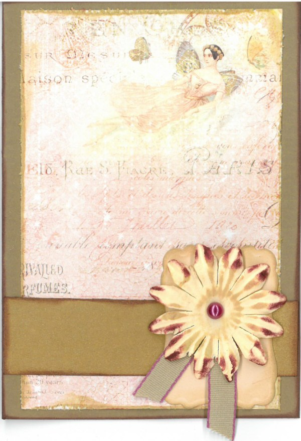 Flower fairy card