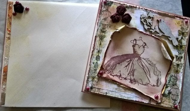 Another wedding card- My Mothers dress again :)