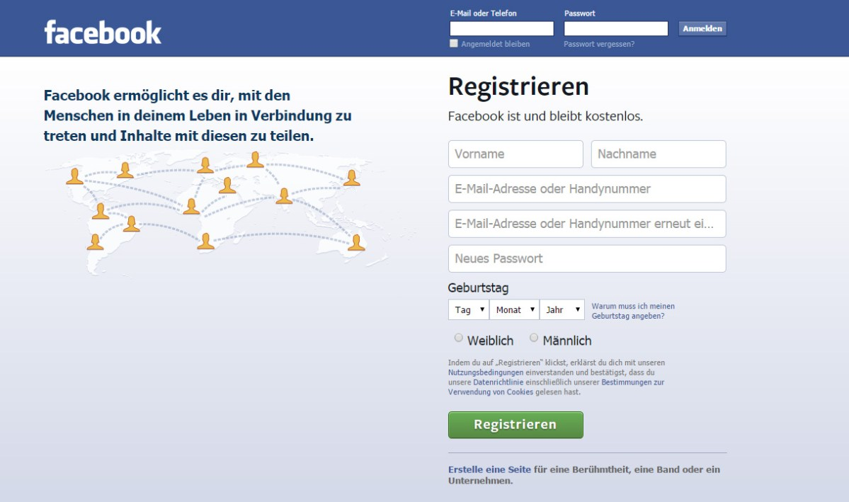 Facebook Registrieren Neu