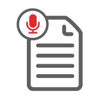 Synchrocast transcript icon