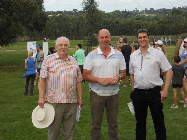 Alex with Terry Avery, Mayor the Yarra Ranges Shire Council and Terry Macdonald. Chairperson of Eastern Volunteers