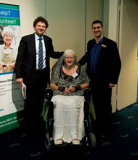 Alex with Simon McKeon and Margaret Stevens