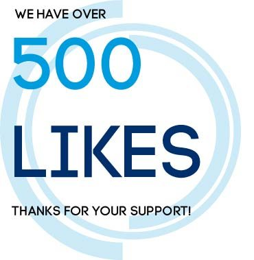 We have more than 500 Likes on Facebook