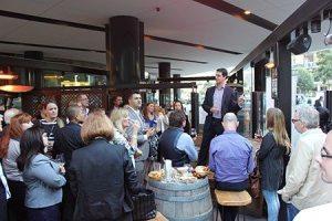 Alex Makin speaking at Beers with Peers