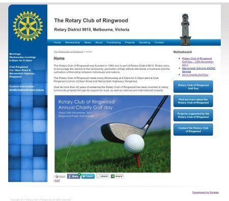 The Rotary Club of Ringwood website has been designed to highlight upcoming events and projects