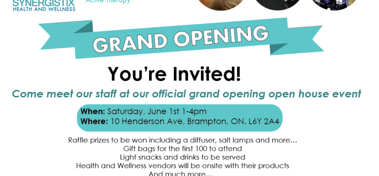 Synergistix Health and Wellness Grand Opening on June 1st