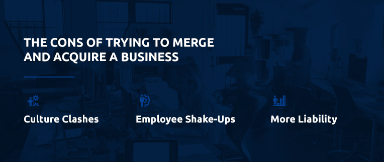 The negatives of merging a business.