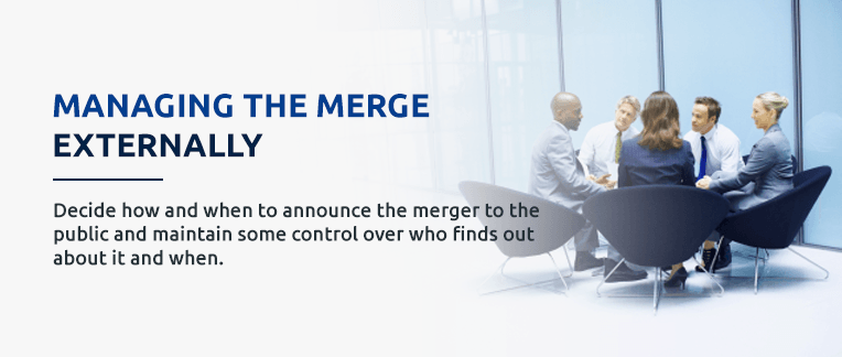 How manage external factors in merging a business.