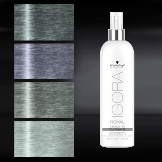 white hair styling chairs best for back pain igora royal absolutes silver whites brightening spray 350ml