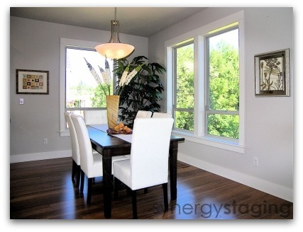 Dining Room staged by Synergy Staging in West Linn