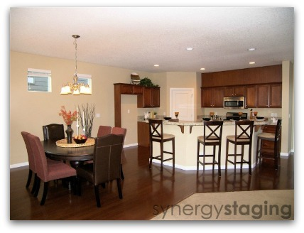 Kitchen staged by Synergy Staging in Clackamas