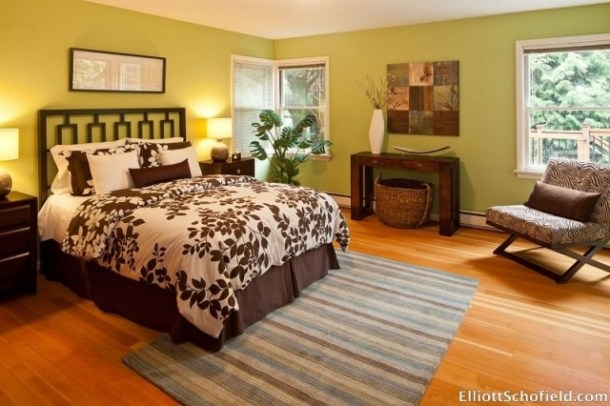Bedroom staged by Syergy Staging in Portland Oregon