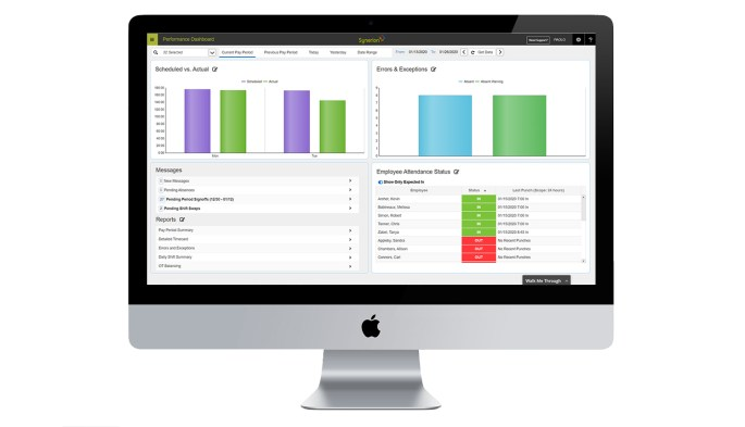 Synerion time and attendance software