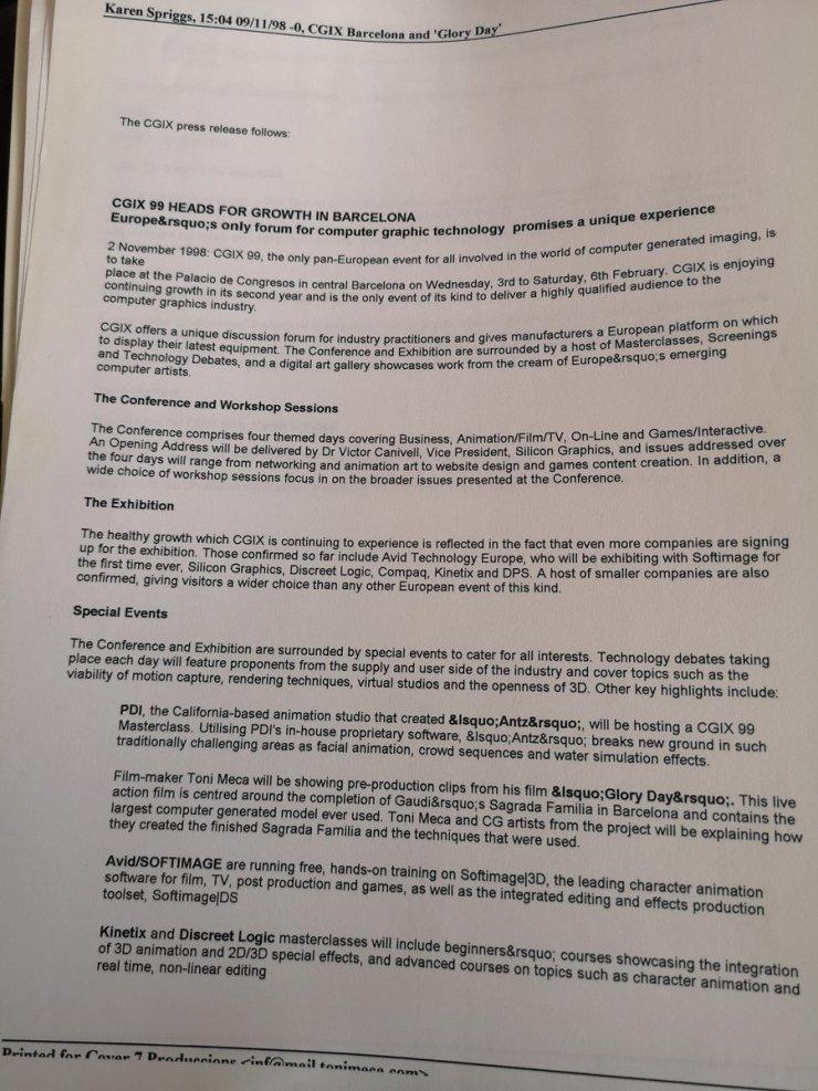 Press release CGIX