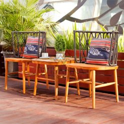 Alvira Rattan Wooden Terrace Set | Alvira Outdoor Rattan Terrace Set