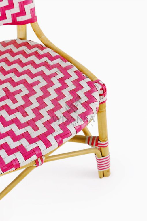 Carla Natural Rattan Dining Bistro Chair detail