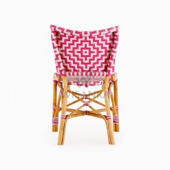 Carla Natural Rattan Dining Bistro Chair rear